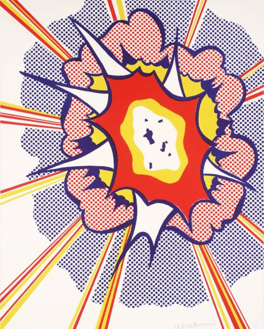 Explosion 1965-6 Roy Lichtenstein 1923-1997 Presented by the Museum of Modern Art, New York 1976 https://www.tate.org.uk/art/work/P01796